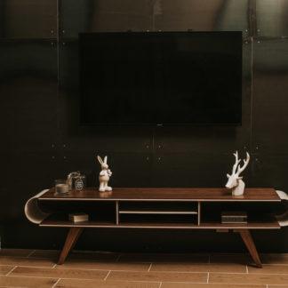 Meuble TV noyer + corian